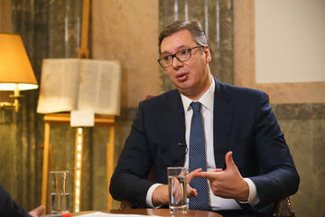 Il Presidente serbo Aleksandar Vučić