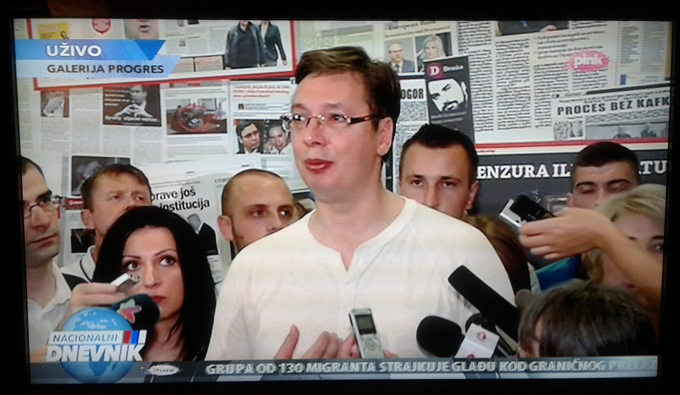 Direktan prenos Vučićeve posete izložbi 25.07. na Nacionalnom dnevniku TV Pink