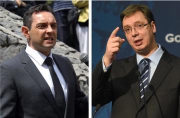 Aleksandar Vulin and Aleksandar Vučić