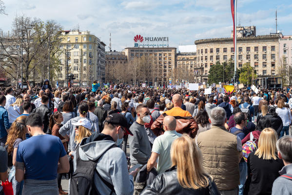 Demonstration for the environment in Serbia © Mirko Kuzmanovic/Shutterstock