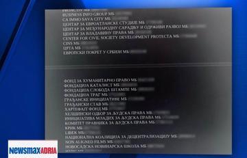 Lista delle ong e delle persone sotto esame (screenshot newsmax Adria)