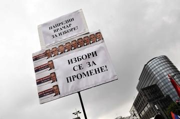 """""""Elezioni per il cambiamento"""", Belgrado, 16 aprile 2011 - foto di Marjola Rukaj"""
