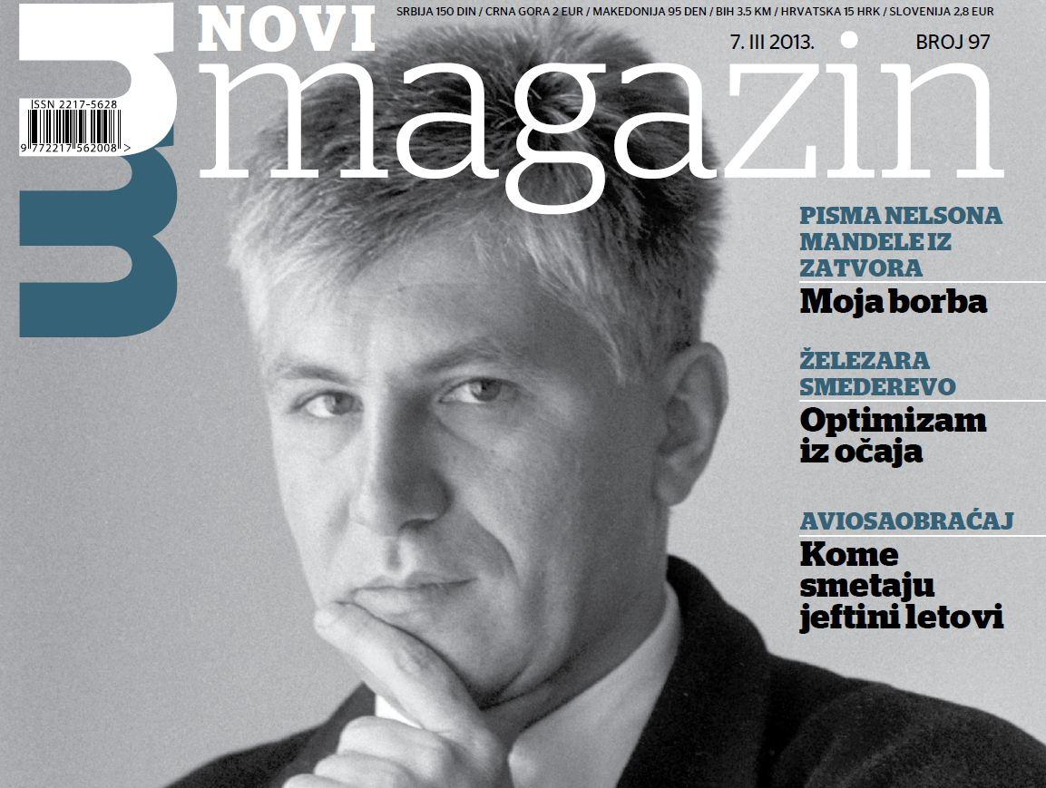 Immagine tratta dalla copertina di Novi Magazin dedicata a Zoran Đinđić