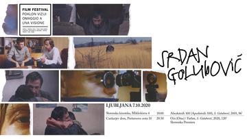 """La locandina di presentazione di uno dei film di Srdan Golubović proiettati presso la rassegna """"Poklon viziji - Omaggio a una visione"""""""
