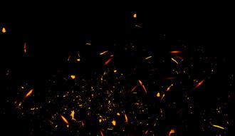 Scintille su sfondo nero