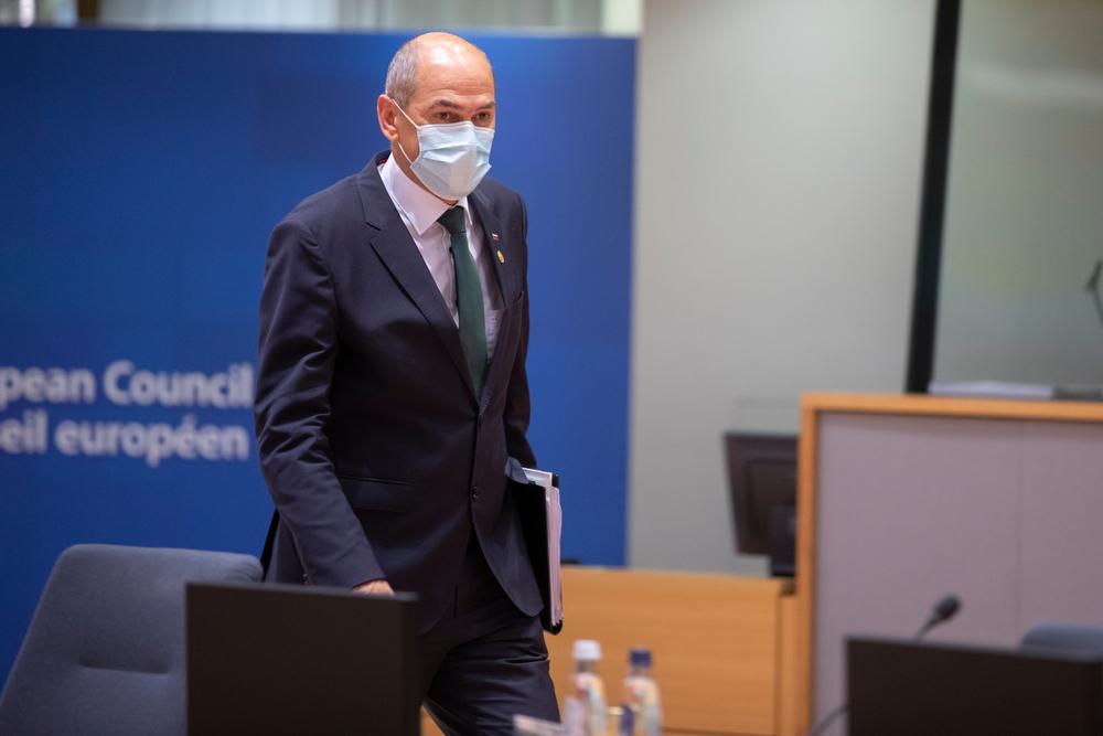 Il primo ministro sloveno Janez Janša a Bruxelles (© Alexandros Michailidis/Shutterstock)