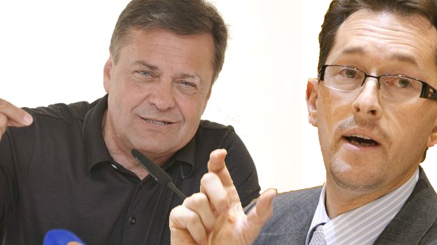 Zoran Janković (left) and Gregor Virant (right)
