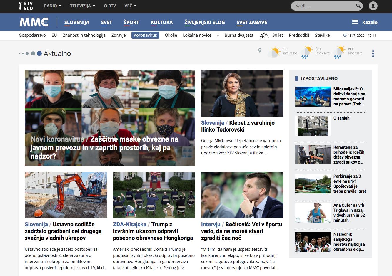 Il portale di RTVSLO