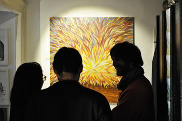 Tela esposta all'Atelier Home Gallery di Trieste