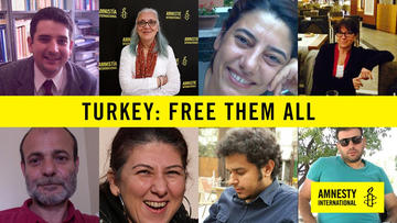 Amnesty International, campagna liberateli tutti Turchia