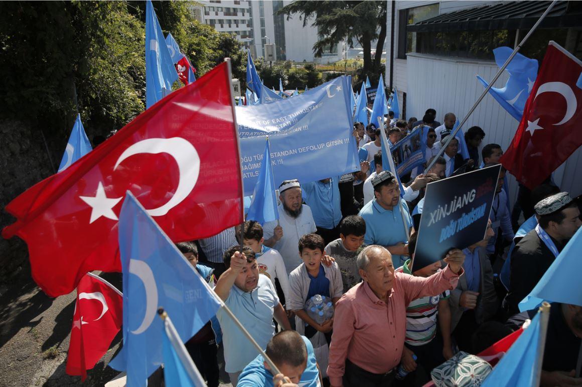Uyghurs demonstrate against China in Istanbul - © Huseyin Aldemir/ Shuttestock