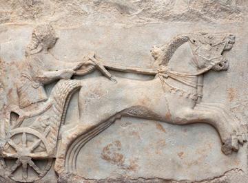 Auriga greco arcaico, sec. VI a.C., da Cizico, museo archeologico di Istanbul