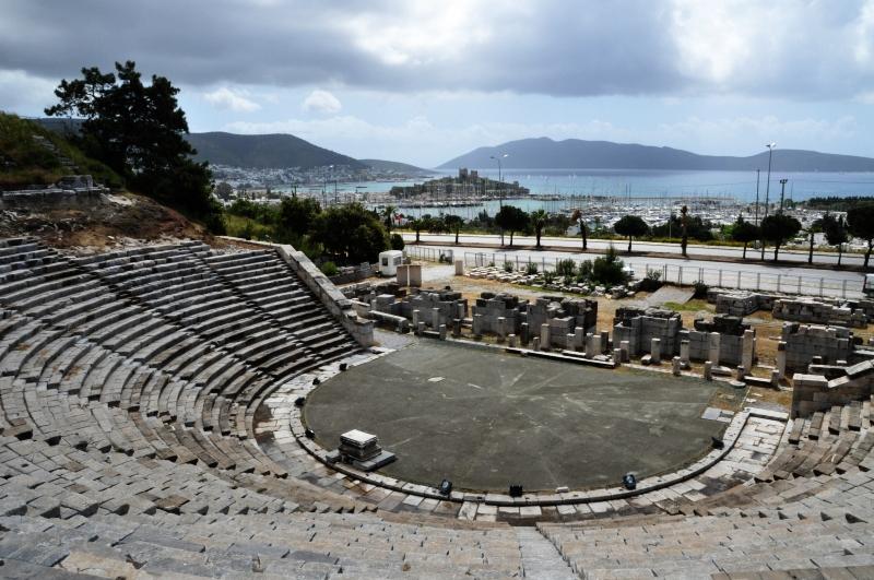 Bodrum (Alikarnasso) nella provincia di Muğla, il teatro antico (foto F.Polacco)