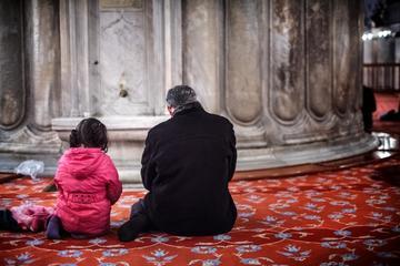 Nella moschea blu