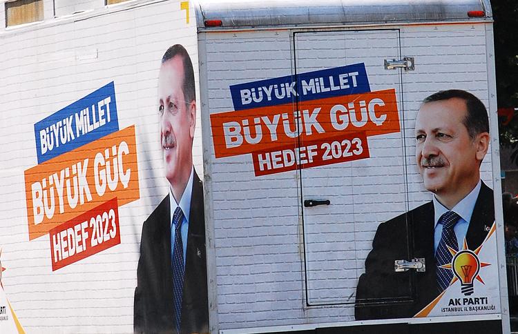 Campagna elettorale del premier Erdoğan a Istanbul (foto L. Zanoni)