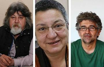 Ahmet Nesin, Şebnem Korur Fincancı and Erol Önderoğlu (foto Bianet)