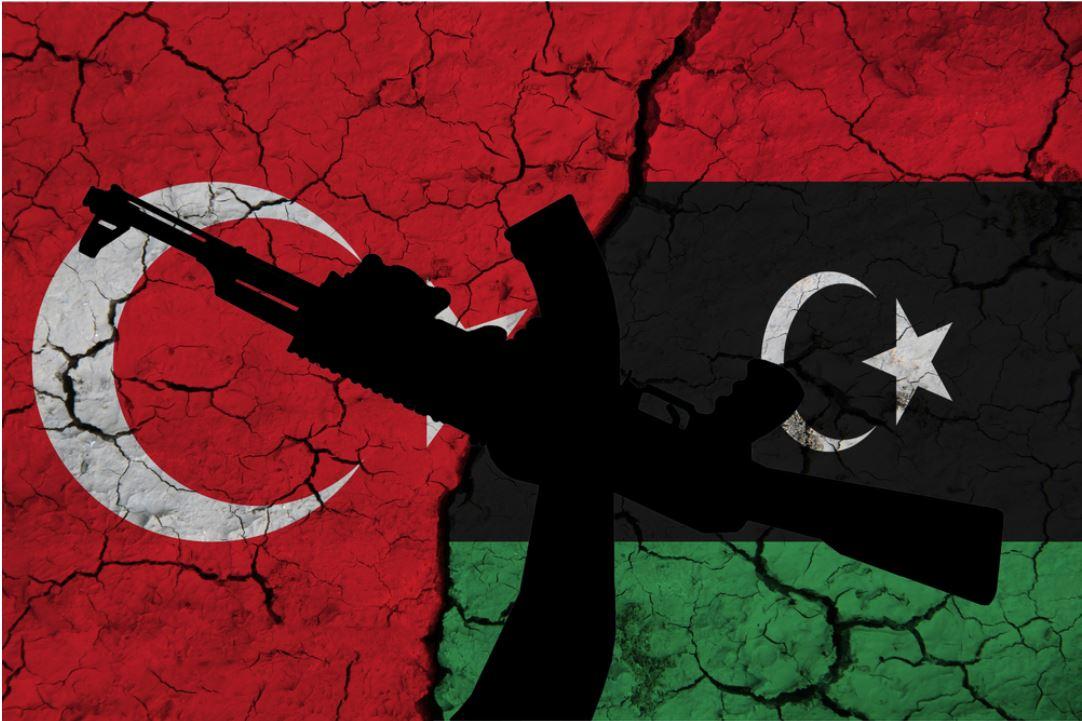 bandiere turca e libica