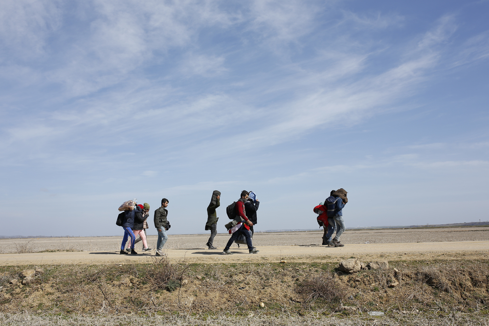 Migrants en route to Edirne © IV. andromeda/Shutterstock
