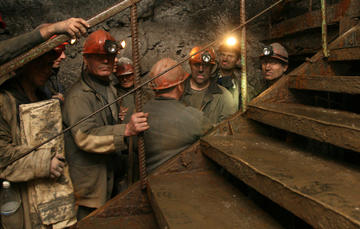 Miners in the Donetsk region