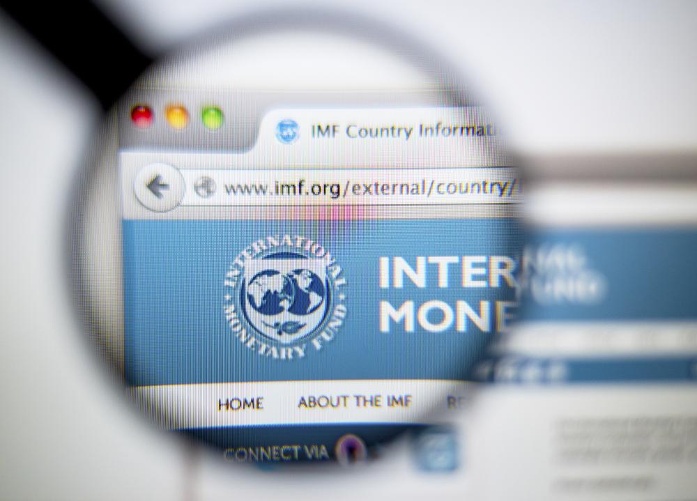 Una grafica mostra una lente di ingrandimento puntata sul portale del FMI © Gil C/Shutterstock