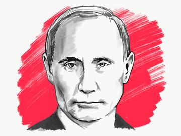 Ritratto di Vladimir Putin - © TPYXA_ILLUSTRATION/Shutterstock)