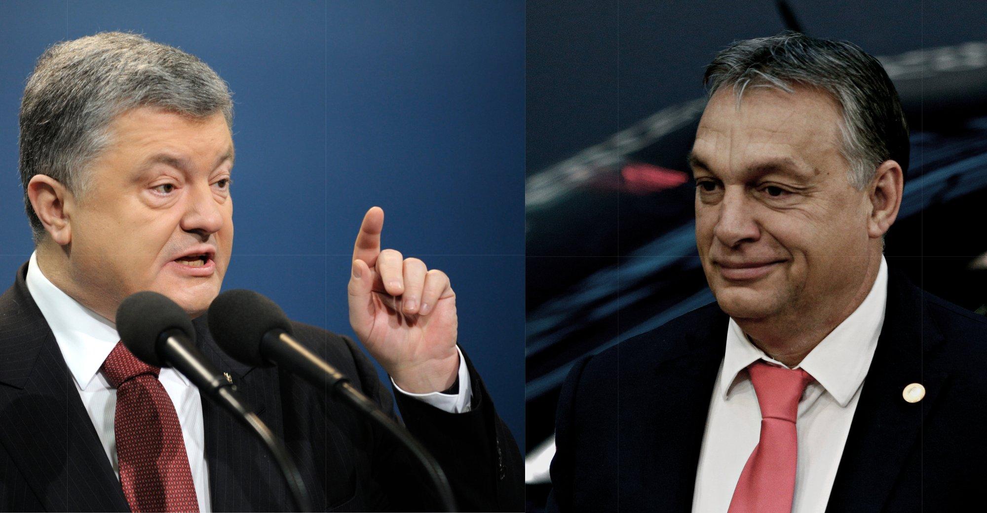Petro Poroshenko (foto di Krysja/Shutterstock) e Viktor Orban (foto di Alexandros Michailidis/Shutterstock)