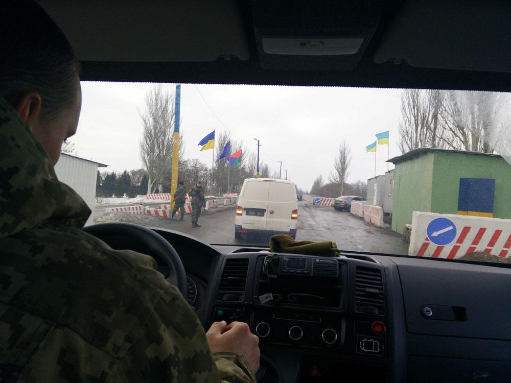 Check point nell'Ucraina orientale - foto di Paolo Bergamaschi