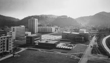 The new town center of Velenje, early 1960s (Velenje Museum)