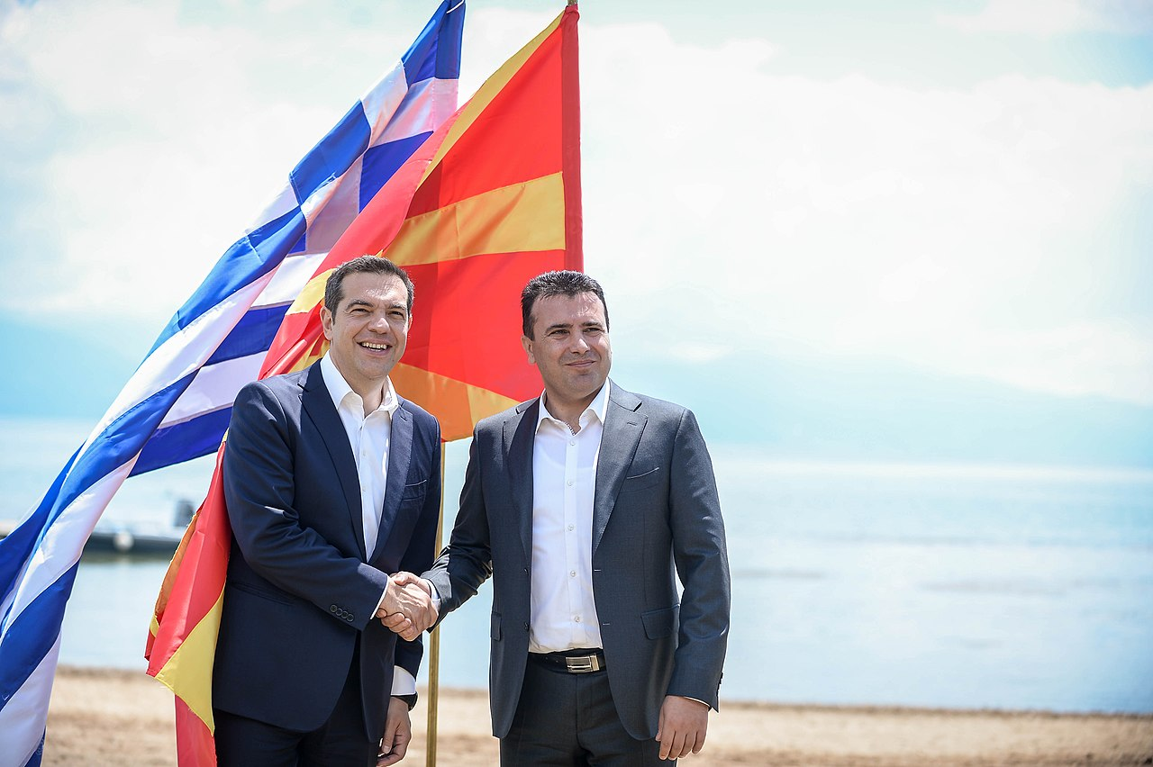 Alexis Tsipras and Zoran Zaev