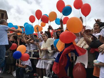 Yerevan, festeggiamenti per l'elezione di Pashinyan - foto Monica Ellena