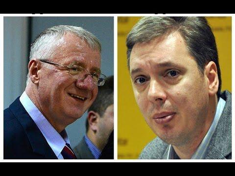Vojislav  Šešelj i Aleksandar  Vučić