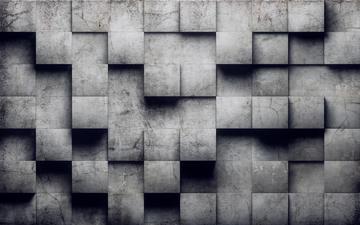 Superfice formata da blocchi di cemento