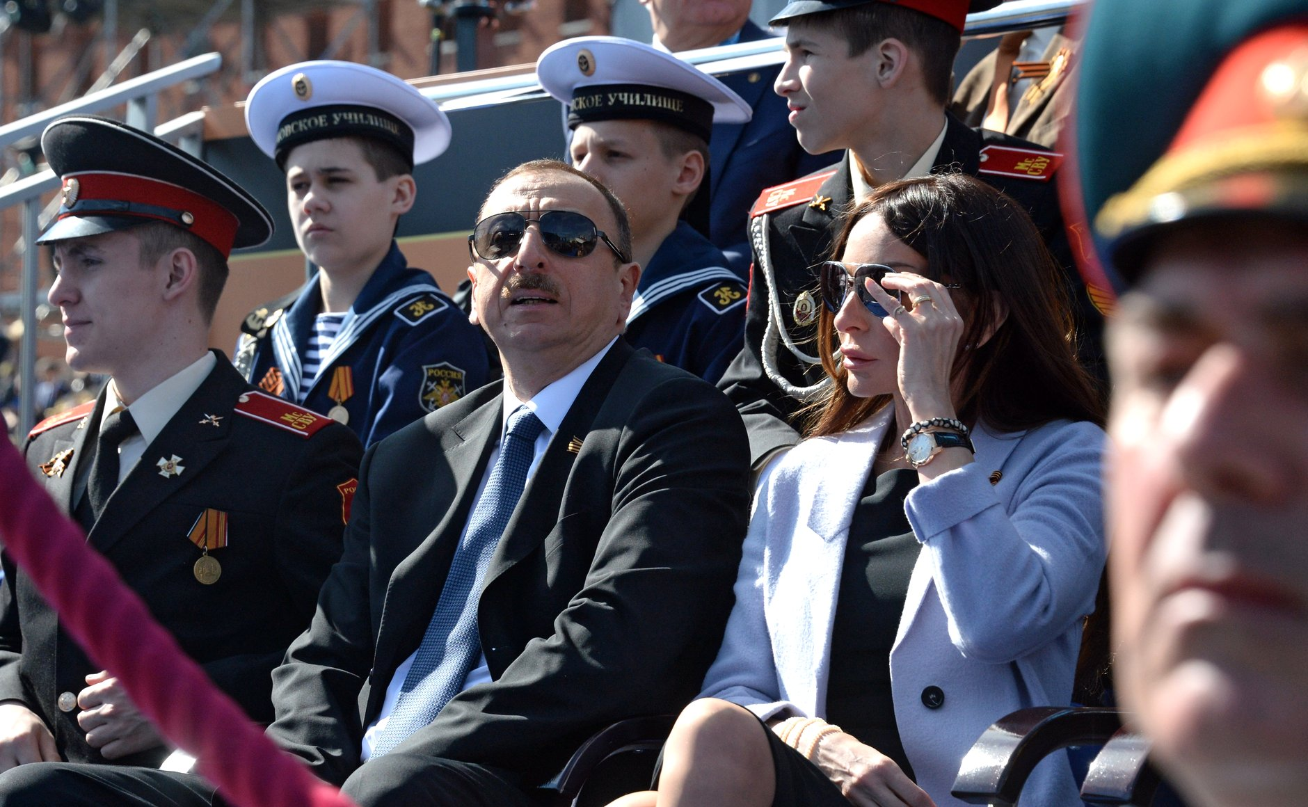 Ilham Aliyev e la first lady (foto Kremlin.ru - wikimedia)