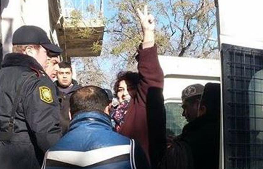 Khadija Ismayil nel giorno dell'arresto