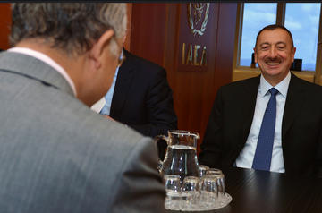 Il presidente azero Ilham Aliyev (IAEA Imagebank/flickr)