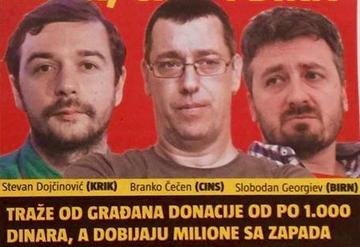 Stevan Dojčinovič, Branko Čečen, Slobodan Georgijev