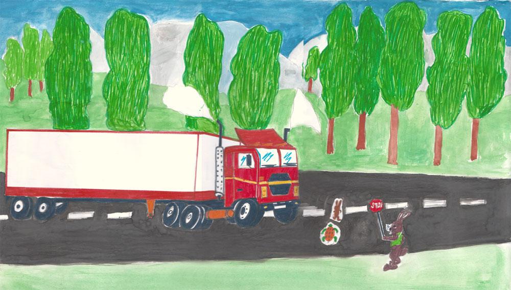 Un disegno realizzato da alcuni bambini nel contesto della campagna Save Kresna