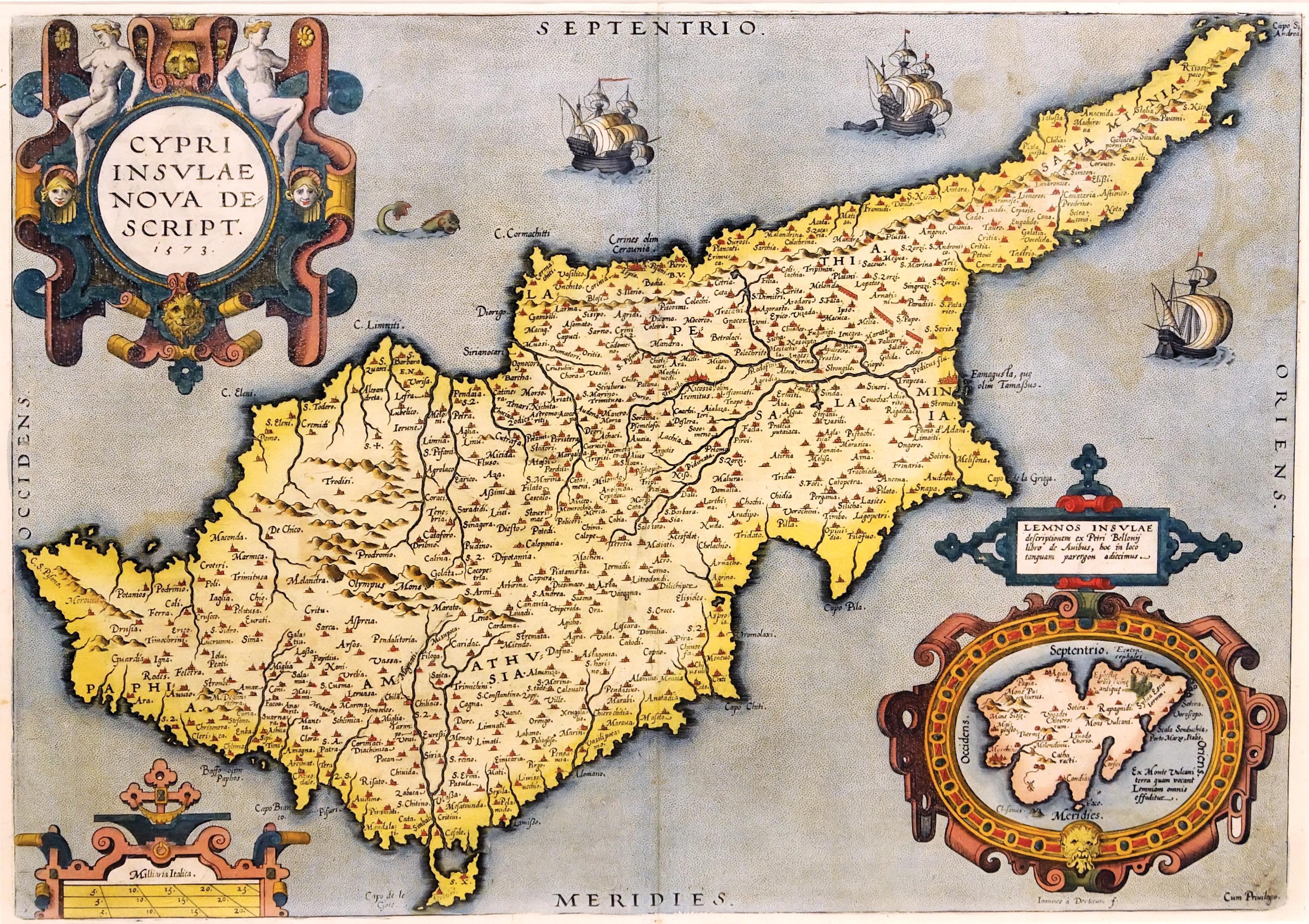 Cipro - antica mappa