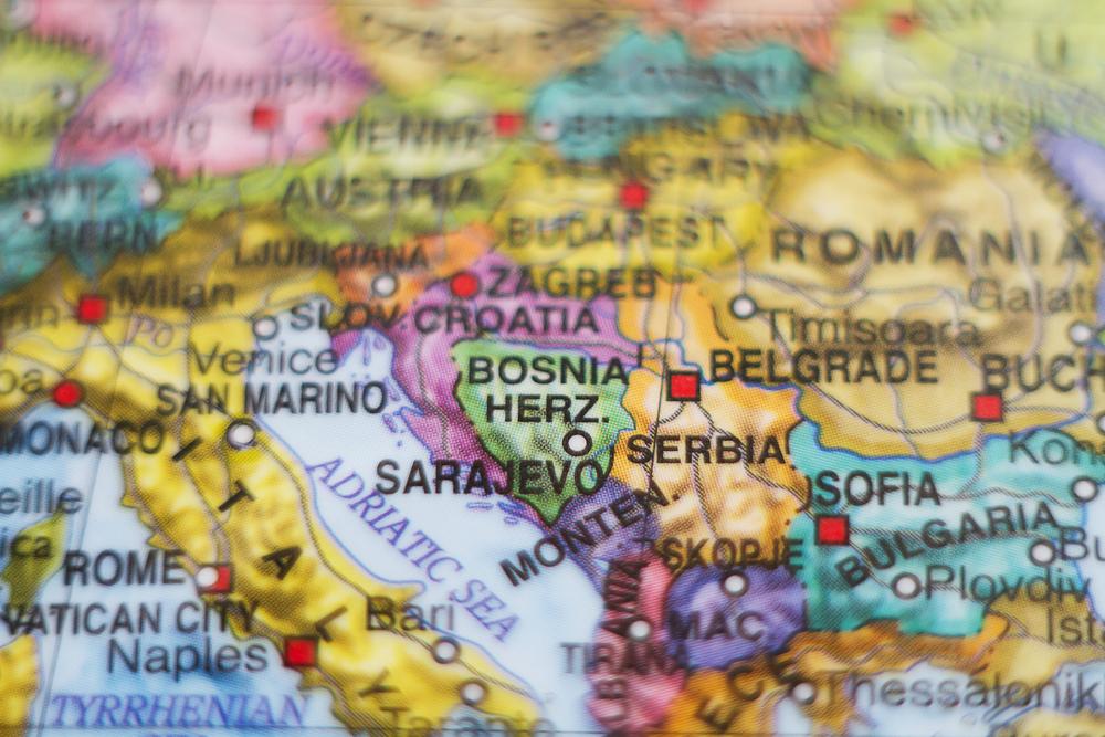 Una mappa dei Balcani