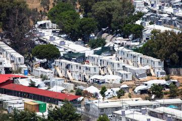 Il campo rifugiati di Moria nel 2018 (© Nicolas Economou/Shutterstock)