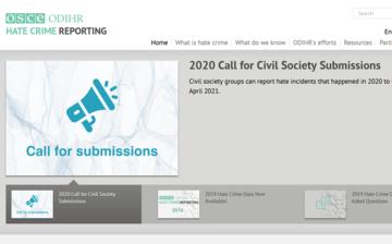 La homepage dell'ufficio diritti umani OSCE