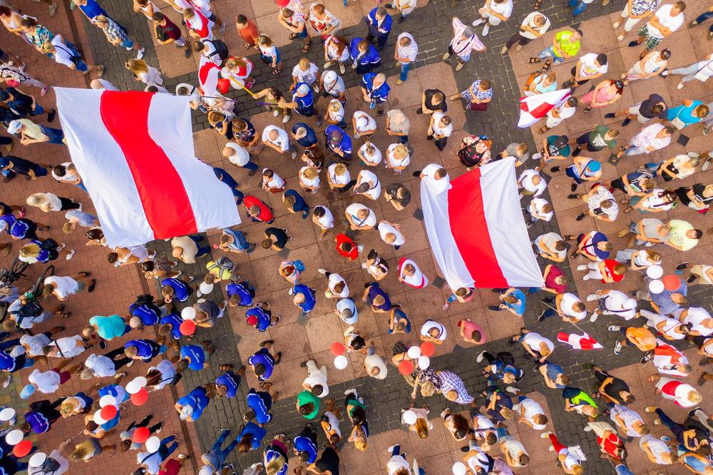 Manifestazioni contro il regime di Lukashenko, 17 agosto 2020 Bielorussia (Banifacyj/Shutterstock)