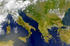 Balcani, dal satellite - foto elRoce Shutterstock