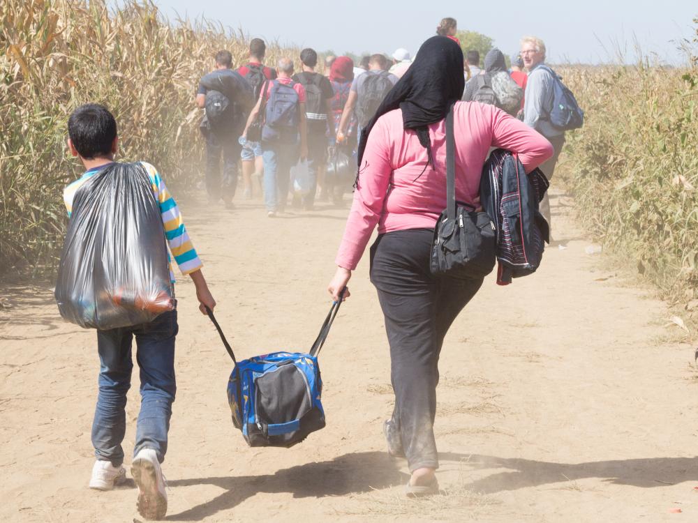 Migranti al confine tra Serbia e Croazia (2015) © BalkansCat/Shutterstock