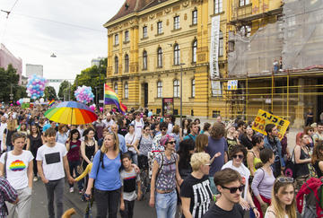 Gay pride a Zagabria (foto G. Vale)