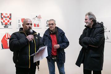 Boris Dežulović, Alem Ćurin, Viktor Ivančić (foto © Manuel Angelini - Sa(n)jam knjige u Istri)