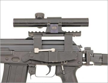 Il dettaglio di un fucile d'assalto prodotto dalla Zastava