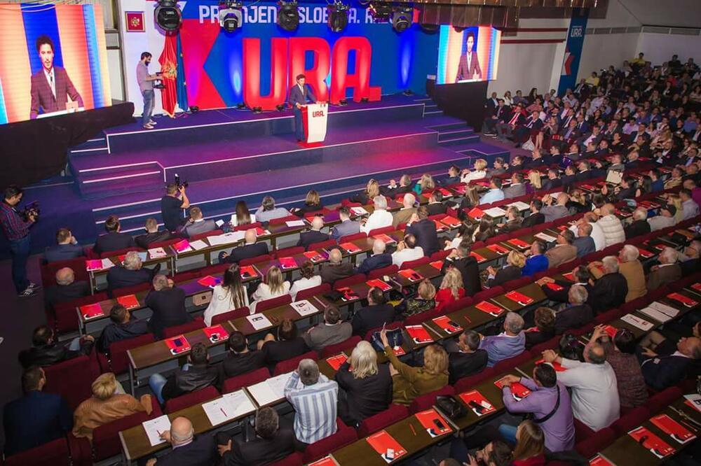 Dritan Abazović interviene ad congresso del Movimento civico URA / CC BY-SA