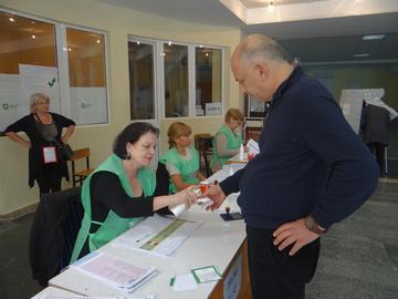 Durante le elezioni a Tbilisi (foto OSCE/Thomas Rymer)