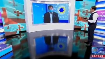 Sulle reti televisive georgiane si commentano i risultati elettorali - screenshot